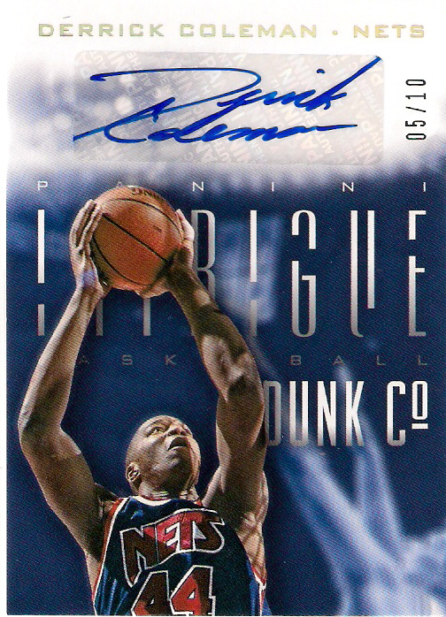 2013-14 Panini Intrigue Dunk Company Autographs Gold #21 5/10