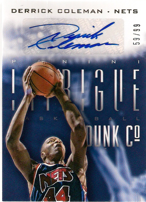 2013-14 Panini Intrique Dunk Company Autographs #21 59/99