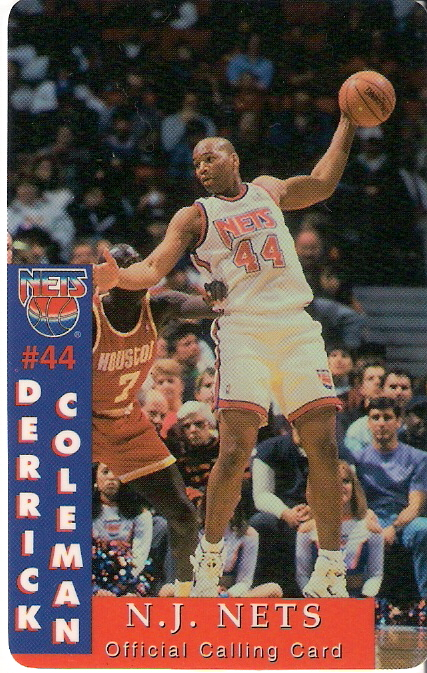 New Jersey Nets unused calling card 2559 of 5000